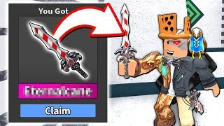 I Got The New Christmas Godly... Before The Update Roblox Murder Mystery 2