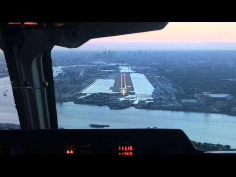 London City Bae 146 200 cockpit  landing