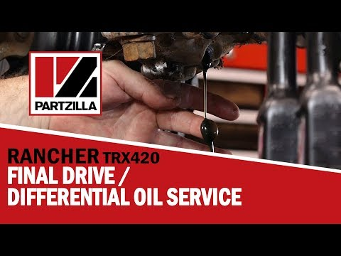 Honda Rancher 420 Rear Differential Oil Change | Honda Rancher Rear Diff Oil Change | Partzilla.com