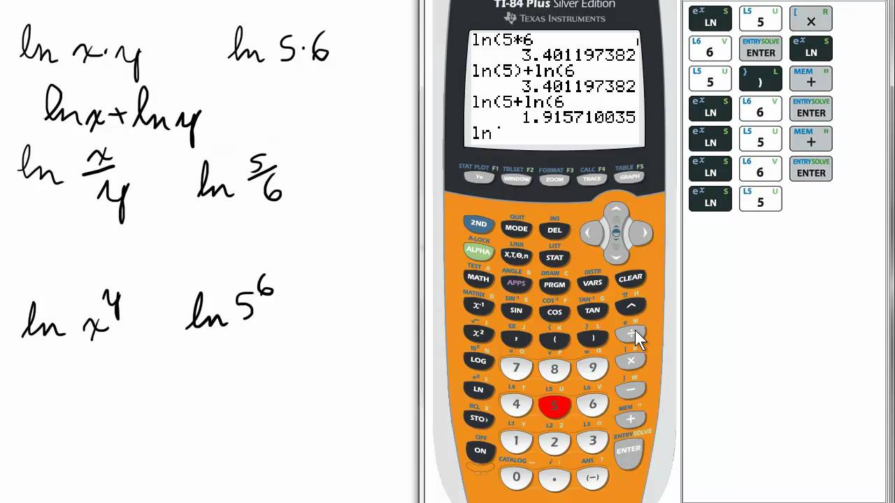 how to work out log on calculator