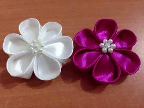 Diy Kreasi Bunga Dari Pita Satin How To Make A Satin Ribbon Flower