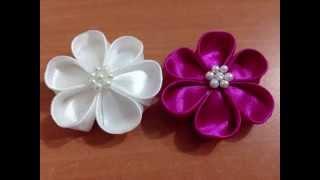 Como fazer uma flor de fita de cetim