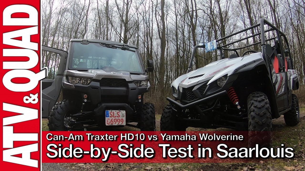 test can am traxter hd10 vs yamaha wolverine 850 youtube. Black Bedroom Furniture Sets. Home Design Ideas
