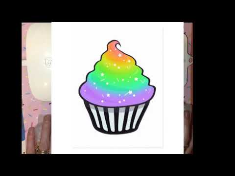 Rainbow Glitter CupCakes!!! Made from UV Resin, jewelry making