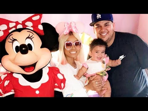 Blac Chyna & Rob Kardashian BACK TOGETHER at Disneyland for Father's Day with Dream