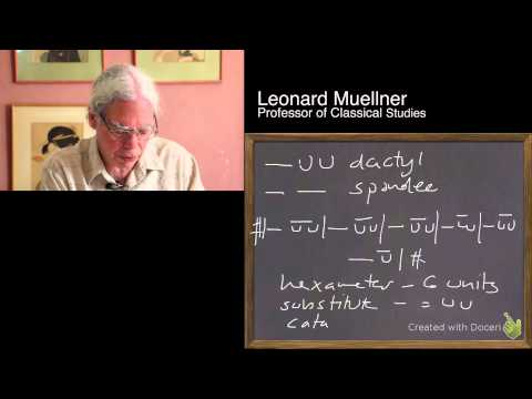 Introduction to the meter of Homeric epic, with Prof. Leonard Muellner