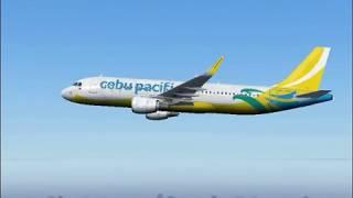 Cebu Pacific flight to Mactan airport. Full flight (FS2004)