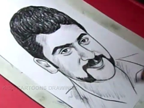 How to Draw film Actor SURYA Drawing For Kids - YouTube