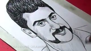 How to Draw film Actor SURYA Drawing For Kids