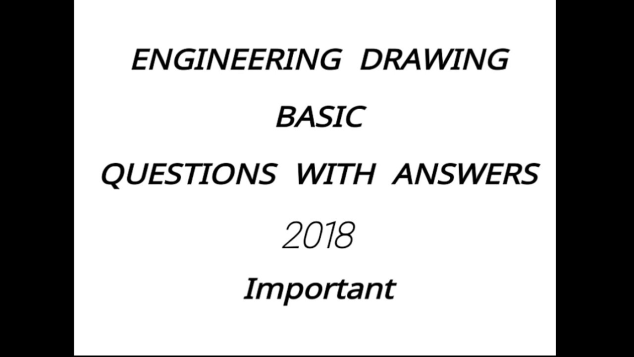 ITI ENGINEERING DRAWING. QUESTIONS WITH ANSWERS 2018 paper