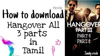 Hangover movie Tamil local dubbed download | check in description |