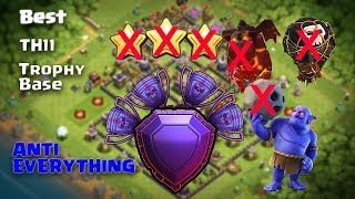 TH11 Legend League Trophy Base | ANTI 0 STAR BASE/ANTI EVERYTHING | Legend League Replays