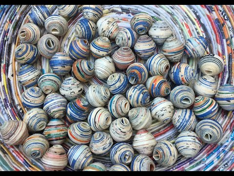 Sealing Paper Beads With Minwax Wood Hardener
