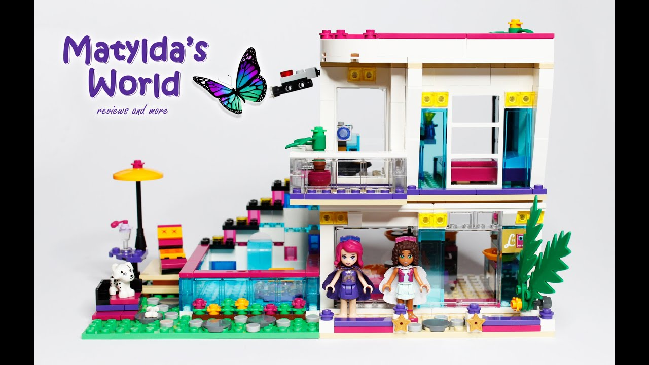 Lego Friends 2016 Livis Pop Star House Set 41135 Review Youtube