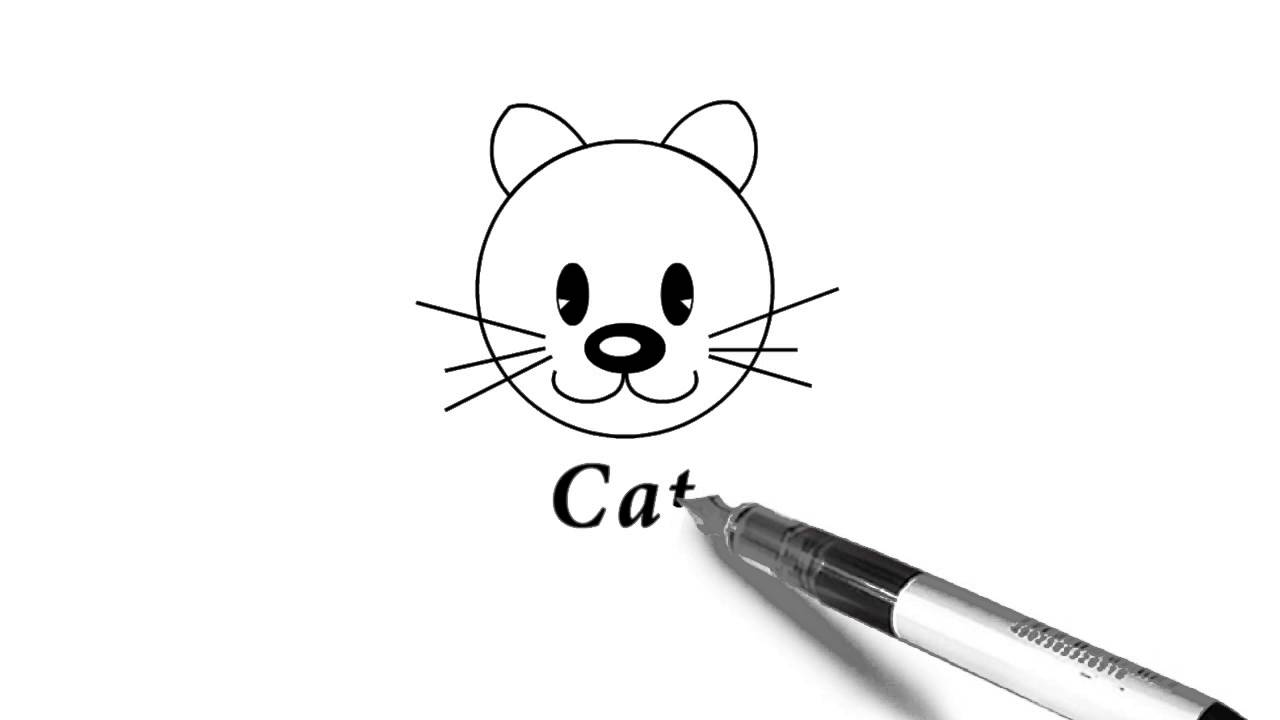 How To Draw A Cat S Face For Kids Fun Drawing Youtube