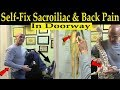 How to Self-Fix Sacroiliac Joint & Low Back Pain in Doorway - Dr. Alan Mandell/Chiropractor