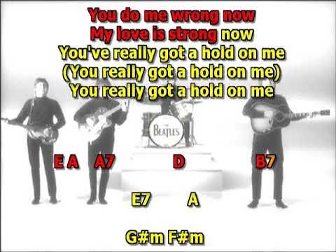 You really got a hold on me Beatles mizo vocals  lyrics chords