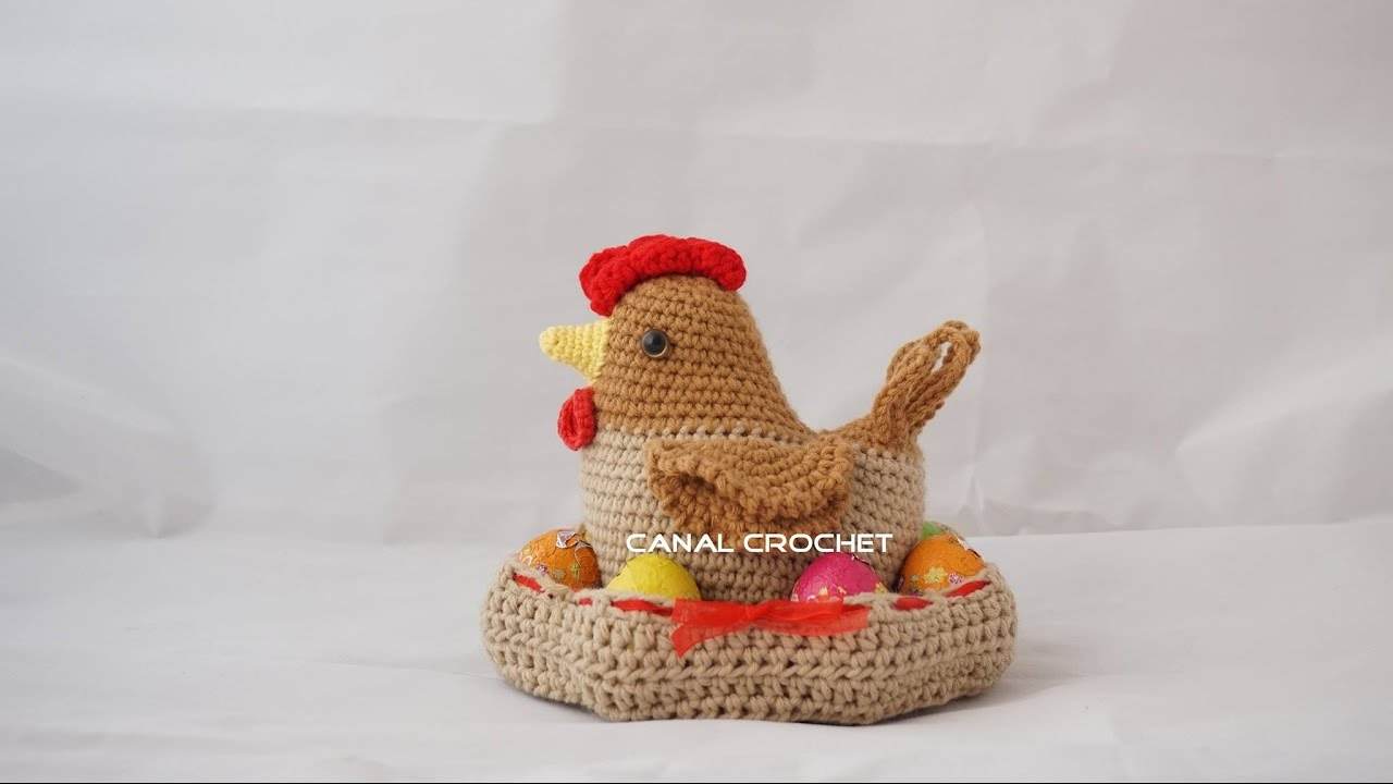 Gallina amigurumi tutorial - YouTube