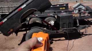 Homemade Dump Trailer | Truck Bed Dump Trailer | GoPro Hero 3 Black