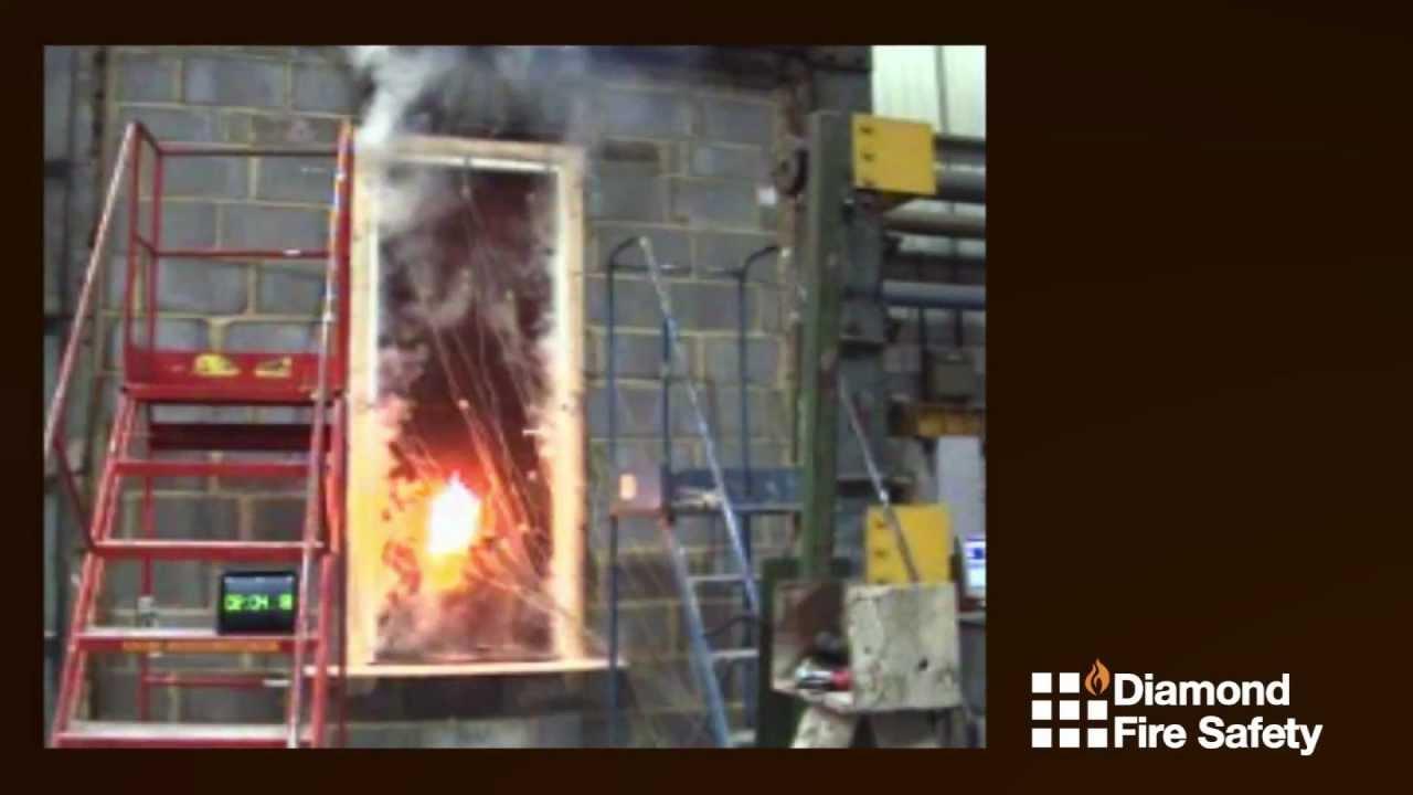 Fire Door Test : Diamond fire safety refurbished door test minute