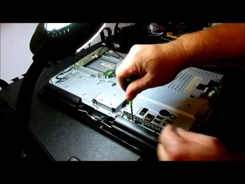 Removing an HP Pavilion All-in-One MS227 LCD Monitor