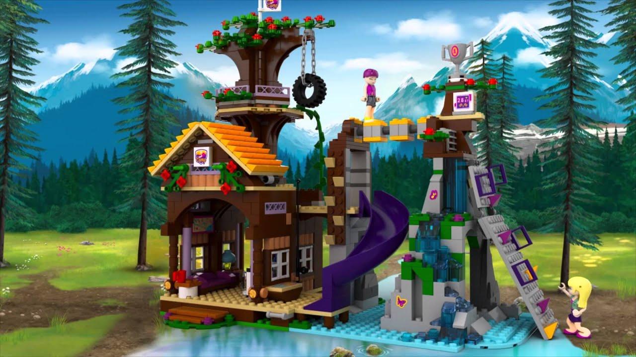 Lego friends avonturenkamp boomhuis youtube