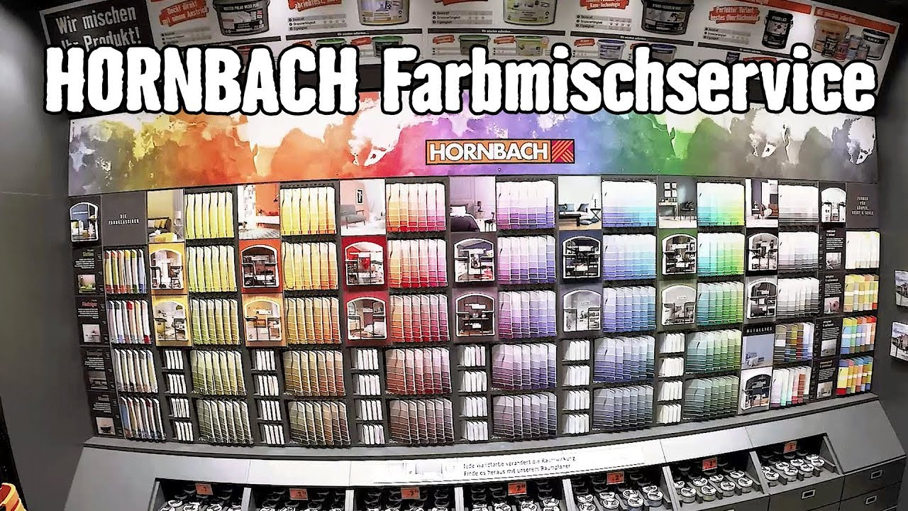 Wandfarbe Farbpalette Farbmischservice Hornbach