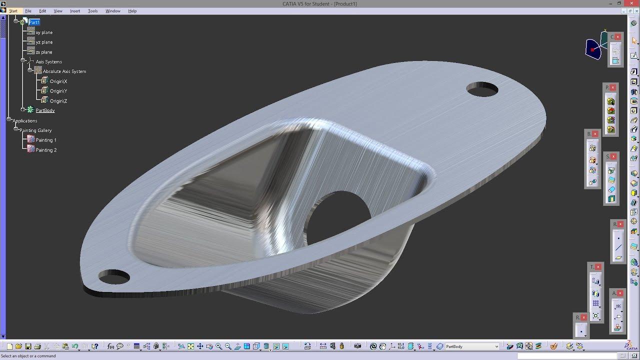 Catia V5 Sketch Tracer Amp Generative Shape Design Youtube
