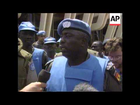 Rwanda - UN Officer Killed In Shell Blast/Refugees