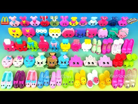 ALL 56 McDONALD'S SHOPKINS HAPPY MEAL TOYS FULL WORLD SET SERIES 1 KID UNBOXING COLLECTION 2015 2016