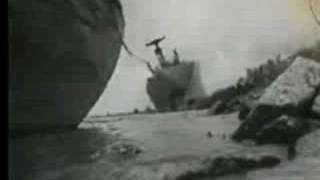 Chlorine Barge Sunk During Hurricane Betsy 1965 Louisiana US