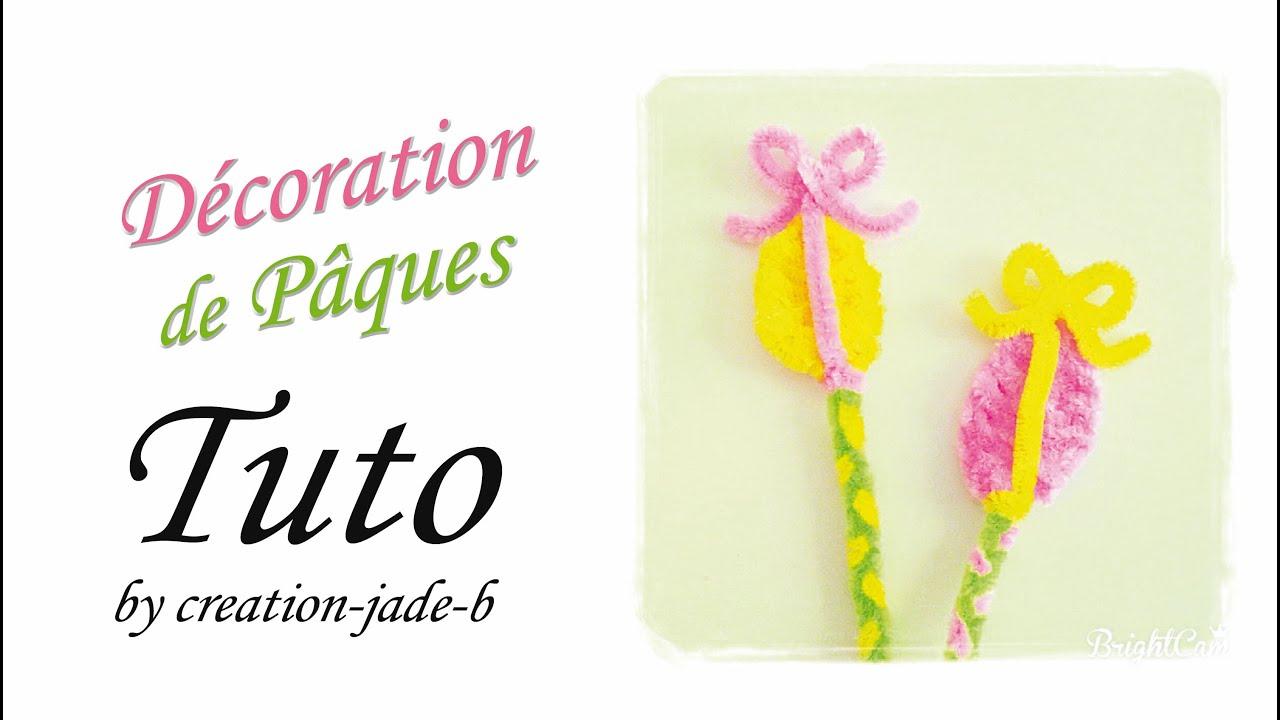 Tuto Cure Pipes Fil Chenille Baguette œuf De Pâques