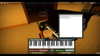 Roblox Piano - Canon