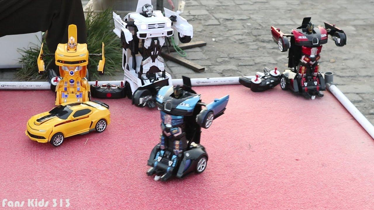 Mobil mobilan berubah menjadi robot I Mainan anak mobil remot control