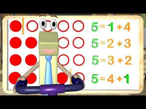 Break Apart Line Addition - Math Videos 1st Grade