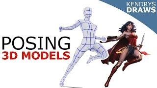 Clip studio paint -How to pose 3D models