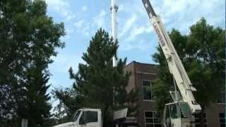 Tower Construction in Alexandria Minnesota .mpg