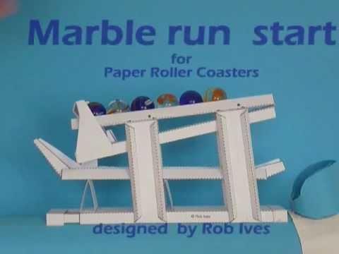 Papercraft Marble run  Start, paper model