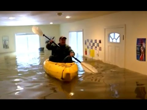 Woman Kayaks Inside Own House