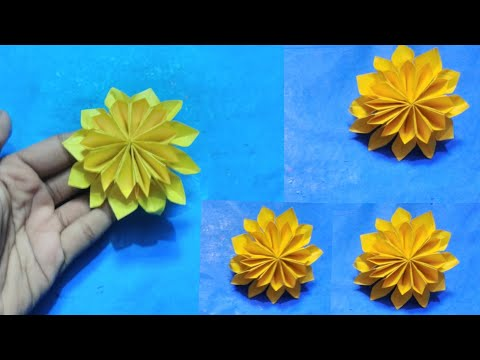English, Diy flower,  easy paper flowers, Paper flowers, Paper flower, Flower making, Origami flowe