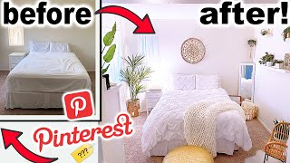 DIY PINTEREST BEDROOM MAKEOVER!