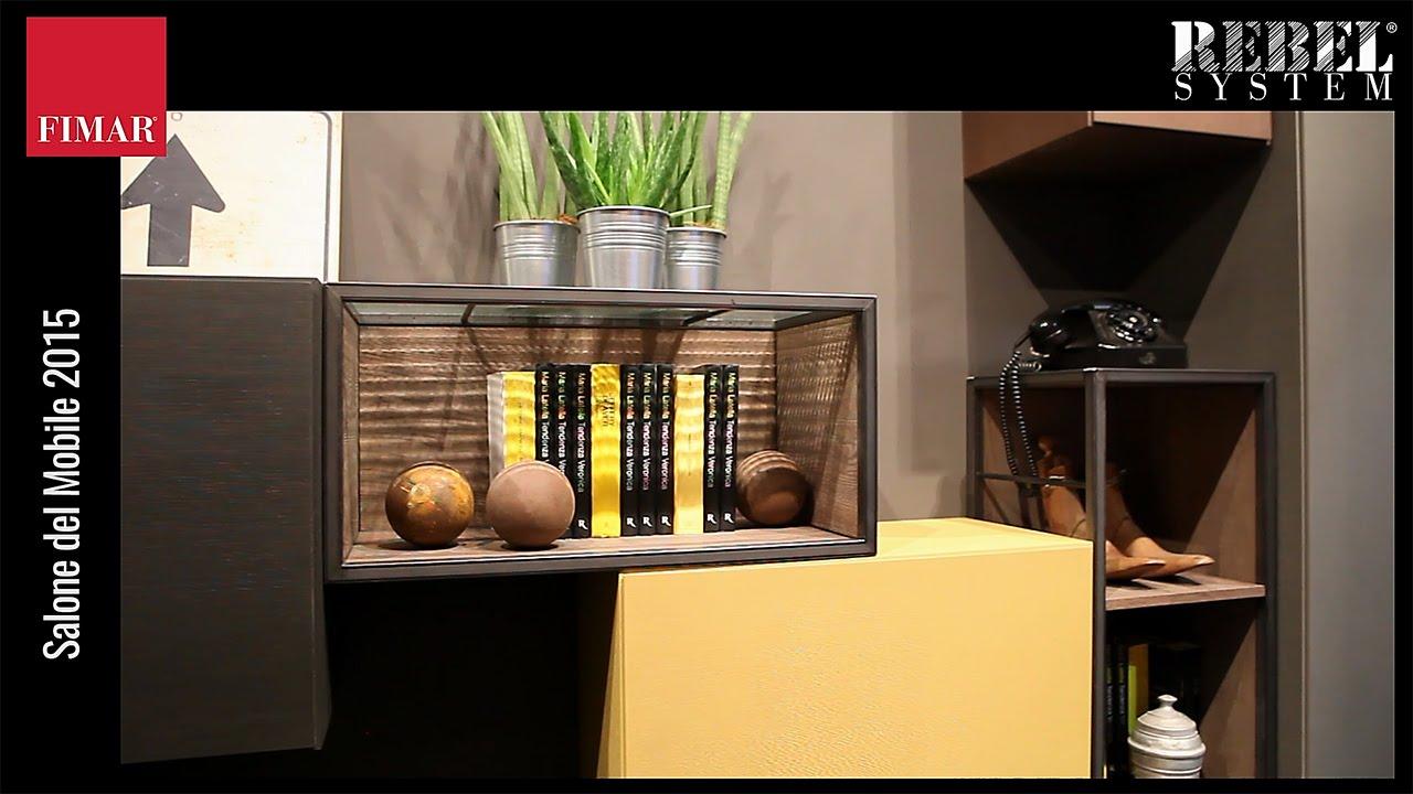 Soggiorni moderni e librerie di design rebel system for I saloni del mobile