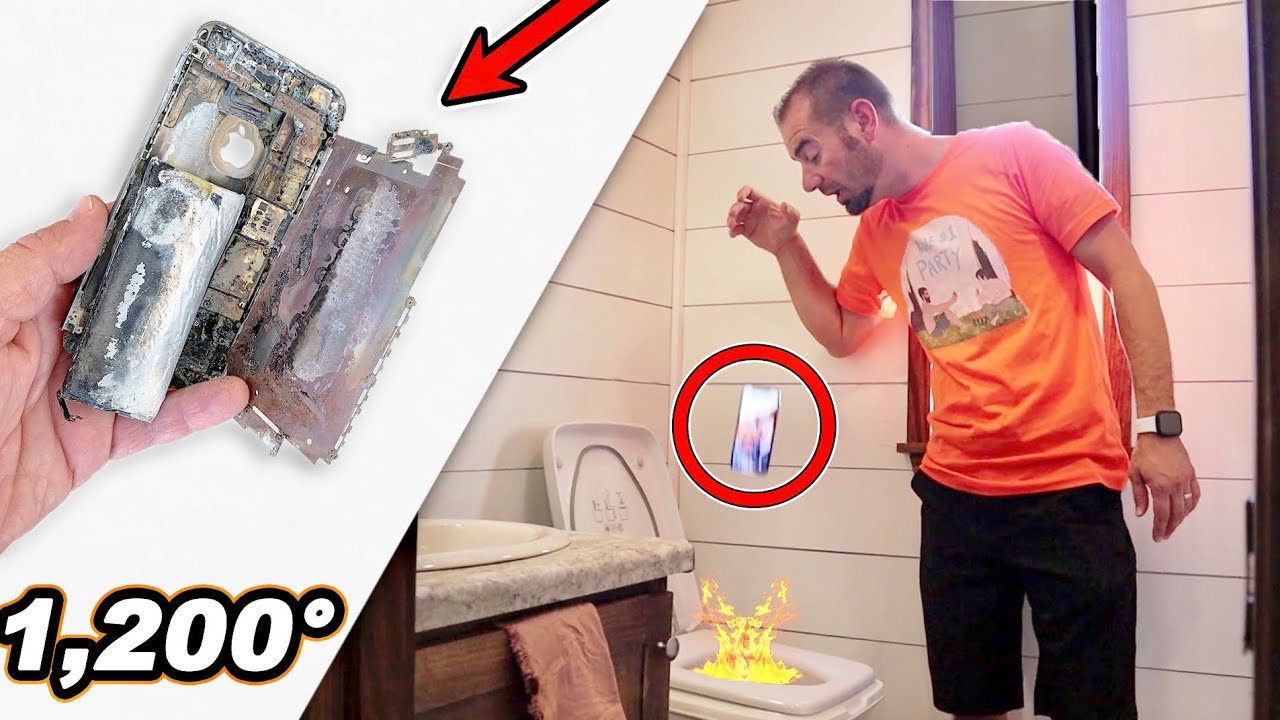I Dropped My Cell Phone In An Incinerator Toilet!