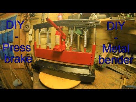 Homemade Press brake - Metal bender DIY