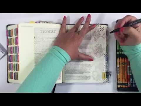 bible journaling - neocolor II process video