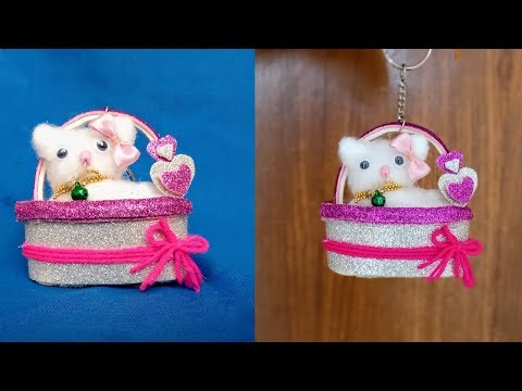 Beautiful key ring making at home    Easy DIY craft    Step by step