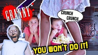 You WON'T Do It! Granny HORROR GAME In Real Life!