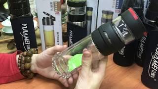 Обзор бутылки для чая из двойного стекла