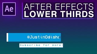 Comment Créer un Simple Tiers Inférieur de l'Animation d'Intro (Adobe After Effects CC Motion Graphics Tutoriel)