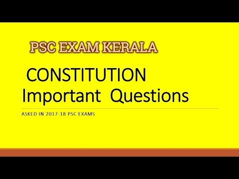 PSC Constitution Must Study Important Repeating Questions